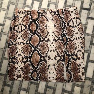 Pretty little things -Python Mini Skirt